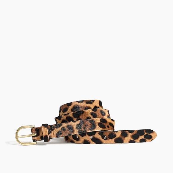 J Crew Leopard Print Belt